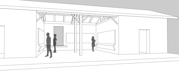 Plan des écuries aménagées en espace d'exposition permanente